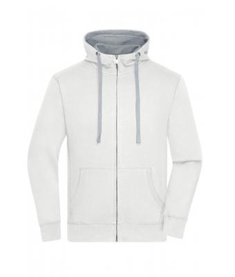 Men Men's Lifestyle Zip-Hoody Off-white/grey-heather 8082