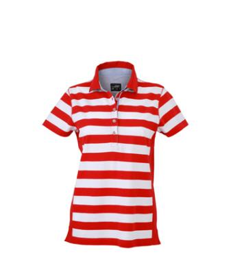Damen Ladies' Maritime Polo Red/white 8183