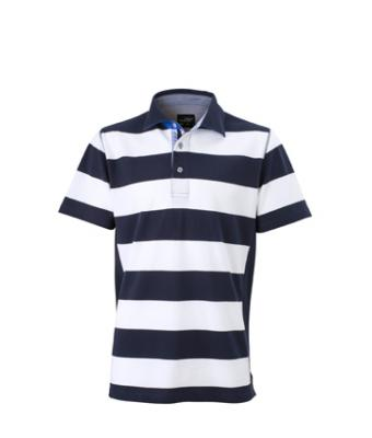 Herren Men's Maritime Polo Navy/white 8184