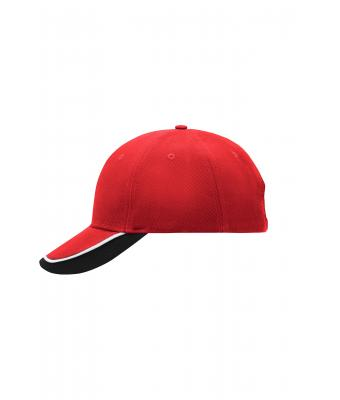 Unisex Half-Pipe Sandwich Cap Red/white/black 7603