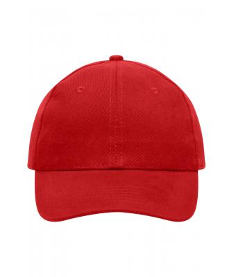 Unisex 6 Panel Cap Heavy Cotton Red 7642