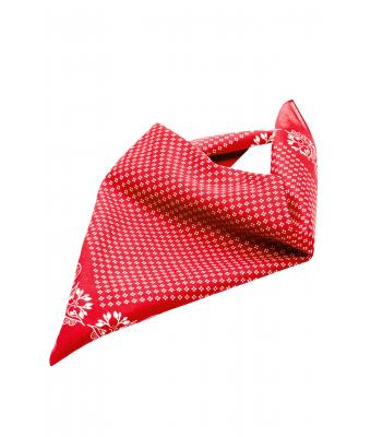 Unisexe Bandana traditionnel Rouge/blanc 8429