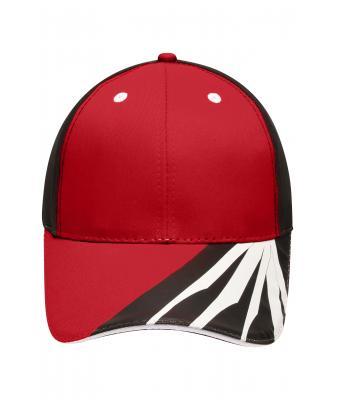31d501bc472 Unisex 6 Panel Craftsmen Cap Red black white-Daiber