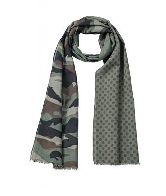 Unisexe Écharpe camouflage Olive marron-Daiber b63f5c67397