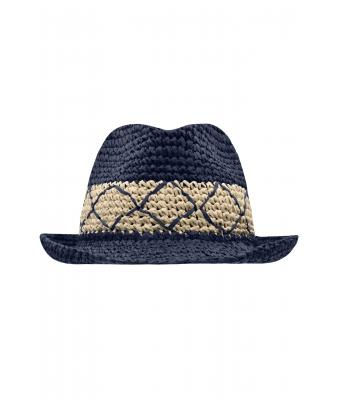 Unisex Flexible Hat Navy/straw 8548