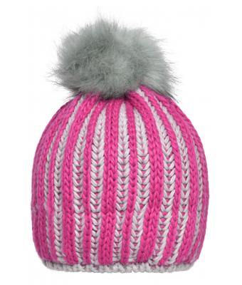 Damen Ladies' Winter Hat Pink/silver 8437