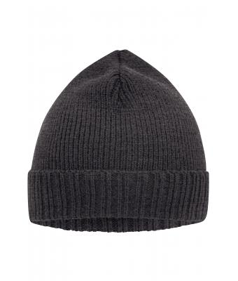 Unisex Basic Knitted Beanie Grey-melange 8447