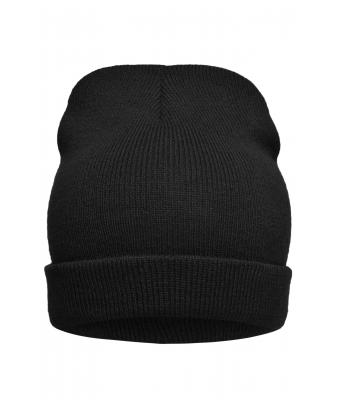 Unisex Knitted Promotion Beanie Black 8448