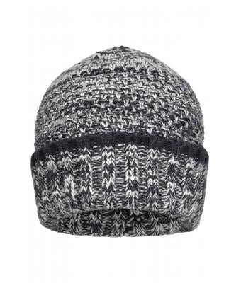 Herren Men's Melange Beanie Navy/white 8509