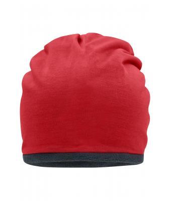 447734cdfdd Unisex Fleece Beanie Red carbon-Daiber