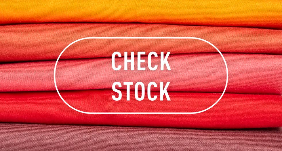Check stock: our stocks are updated every hour.