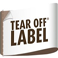 Tear off Label
